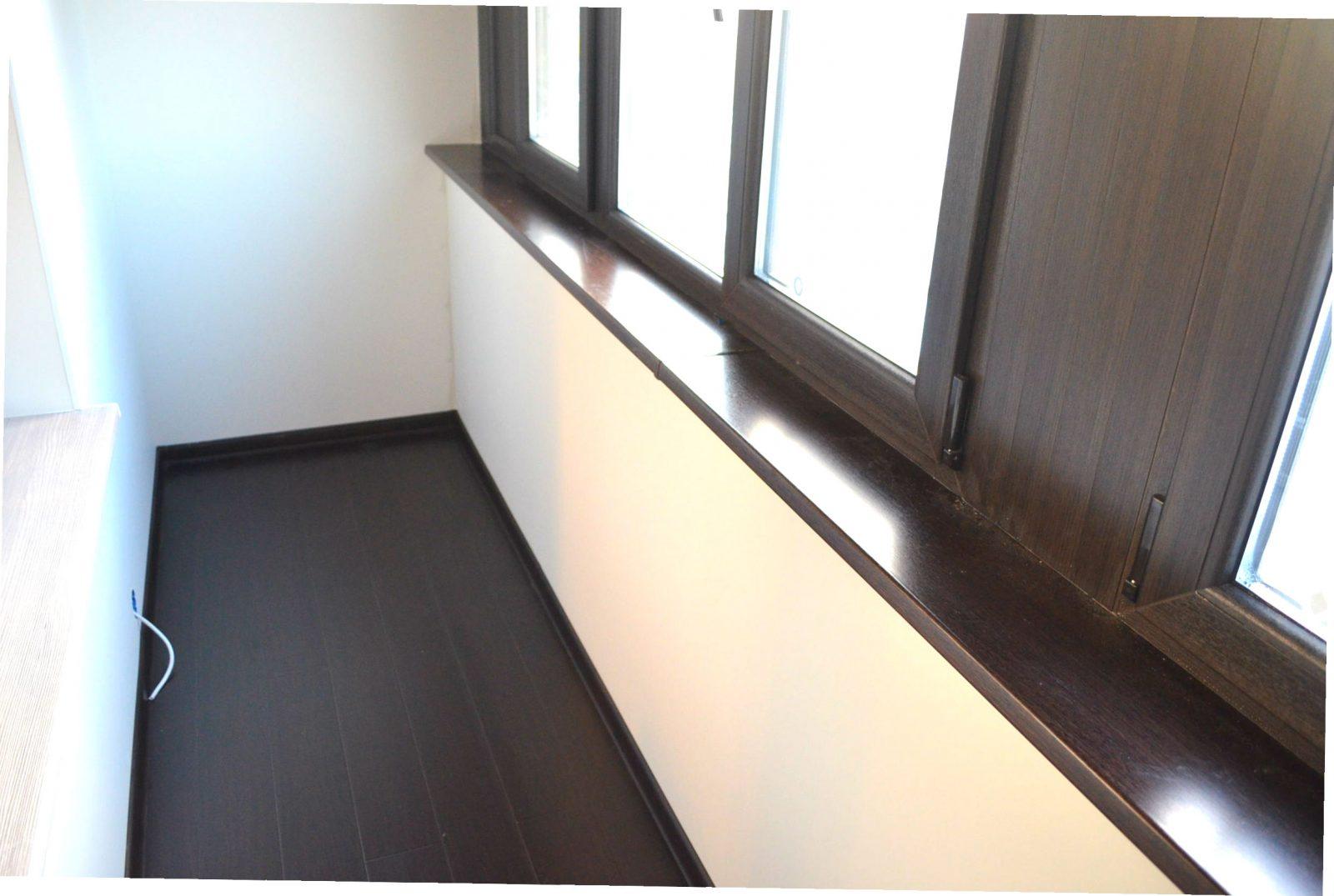 Обшивка стен балкона 3,2 метра гипсокартоном с покраской, це.